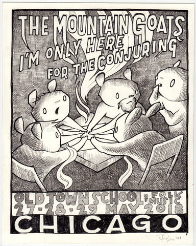 Original Drawing: Mountain Goats, Chicago May 2018