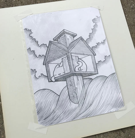 Original Drawing: The Almighty Lighthouse 2019