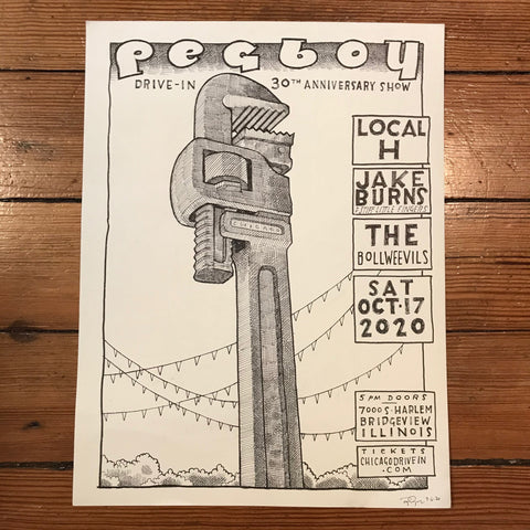 Drawing: Pegboy Thirtieth Anniversary show