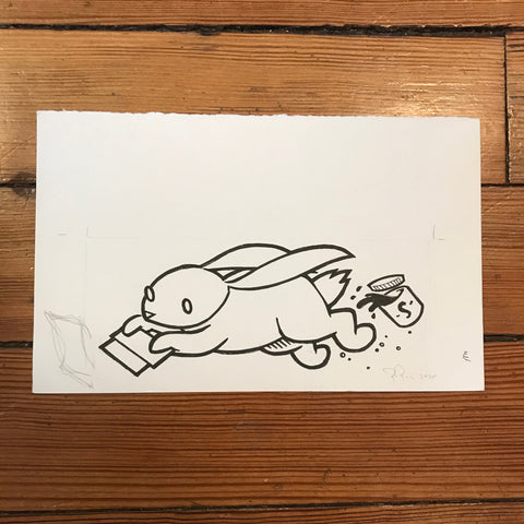 Drawing: Speedball Rabbit