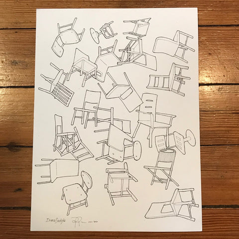 Drawing: Chairs 1 (for Field Notes)