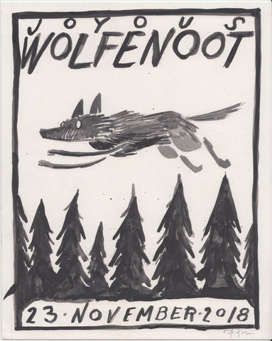 Original Drawing: Wolfenoot 2018