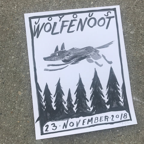 Wolfenoot original ink drawing