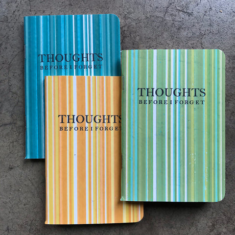 """THOUGHTS Before I Forget"" notebooks"