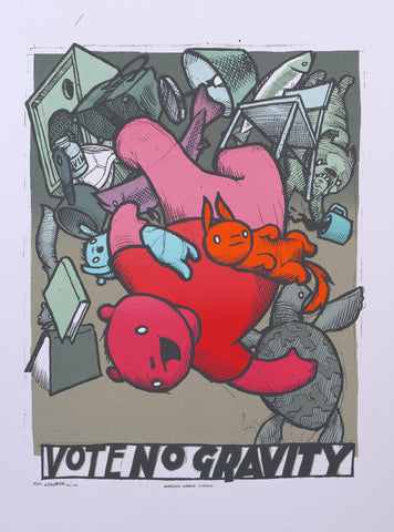 Vote No Gravity (Workshop Print 18)