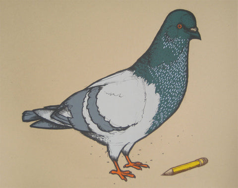Pigeon with Pencil