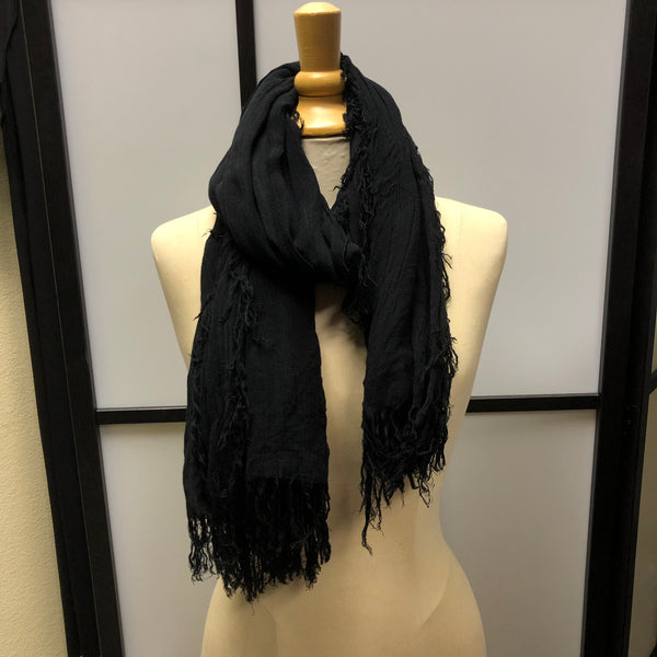 Midnight Black Scarf