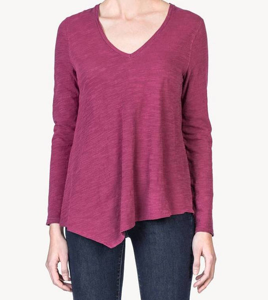 Long Sleeve V-Neck Top by Lilla P