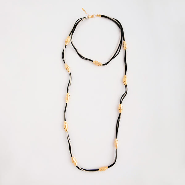 Necklace Gold/Black/White
