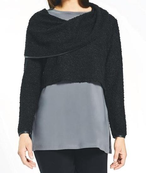 Short Textured Cowneck by Sympli