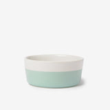 Mint Dipper Ceramic Dog Bowl