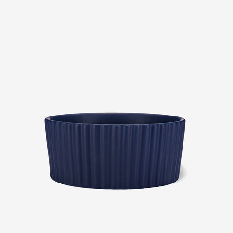 Ripple Ceramic Dog Bowl Midnight