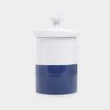 Waggo Ceramic Dog Treat Jar Midnight Navy Blue