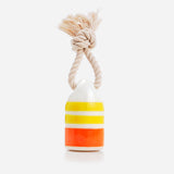 Waggo Nautical Rubber Dog Toy Yellow Buoy