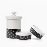 Dipper Ceramic Dog Bowl and Treat Jar Set - Waggo