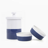 Waggo Dipper Ceramic Dog Bowl Treat Jar Set Midnight Navy