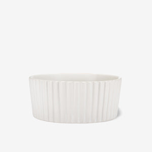 Ripple Ceramic Dog Bowl