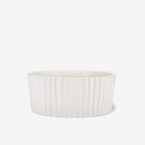 Ripple Ceramic Dog Bowl White - Waggo