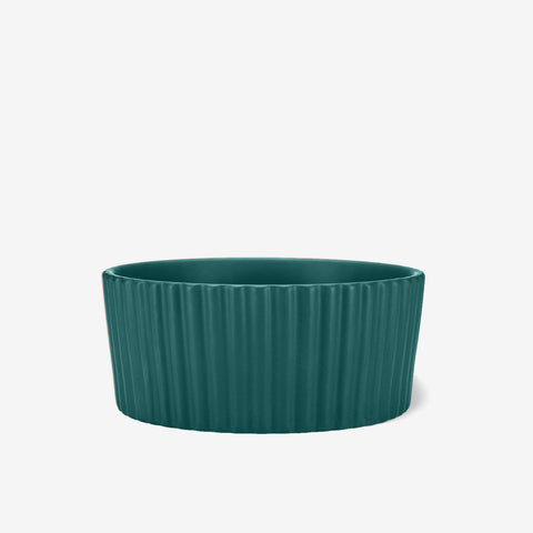 Ripple Ceramic Dog Bowl Teal