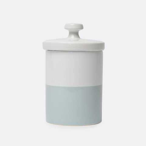 Dipped Color Ceramic Dog Treat Jar Cloud