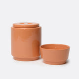 Gloss Ceramic Dog Bowl and Treat Jar Set - Waggo