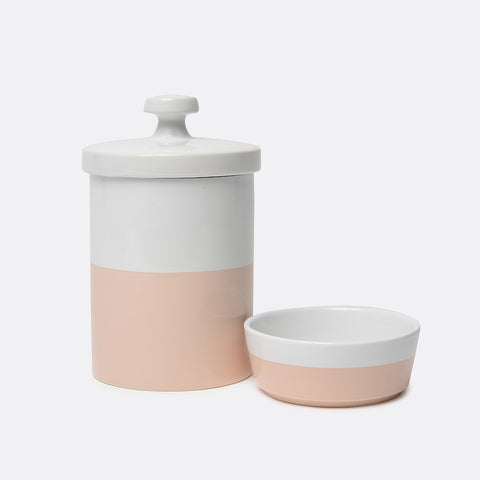 Dipper Ceramic Bowl and Treat Jar Set