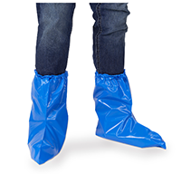 Blue Poly Booties - Pack of 25 pr