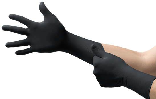 Black Nitrile Gloves - Long Cuff