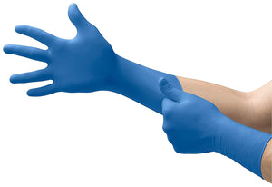 Blue Nitrile Gloves - Long Cuff