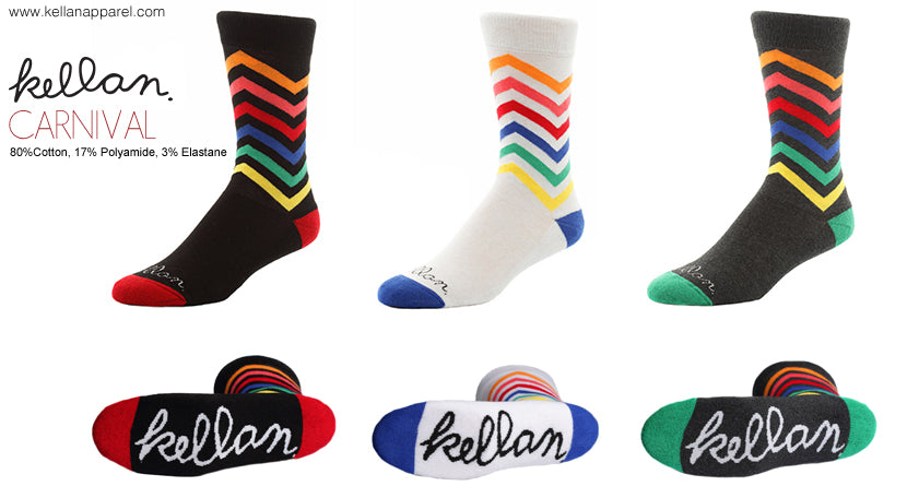 kellan apparel carnival socks