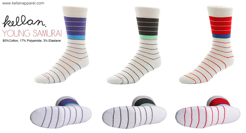 kellan apparel young samurai socks