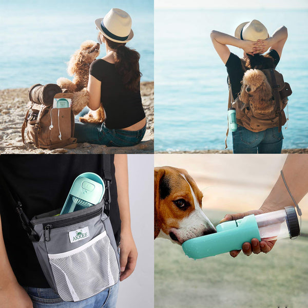 Easy To Carry Dog Water Bottle For Walking, Leak Proof, With Carbon Filter, 10.1 oz