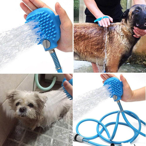 Best dog shower with grooming gloves