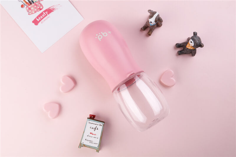 PB+ portable dog bottle pink
