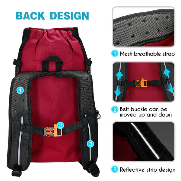 Dog backpack carrier back design