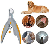 Pet nail clipper with light