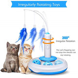 Electric rotating cat teaser toy