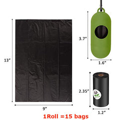 Eco friendly dog poop bag size