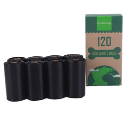 Eco friendly dog poop bag 8pcs black