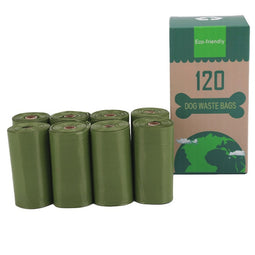 Eco friendly dog poop bag 8pcs green