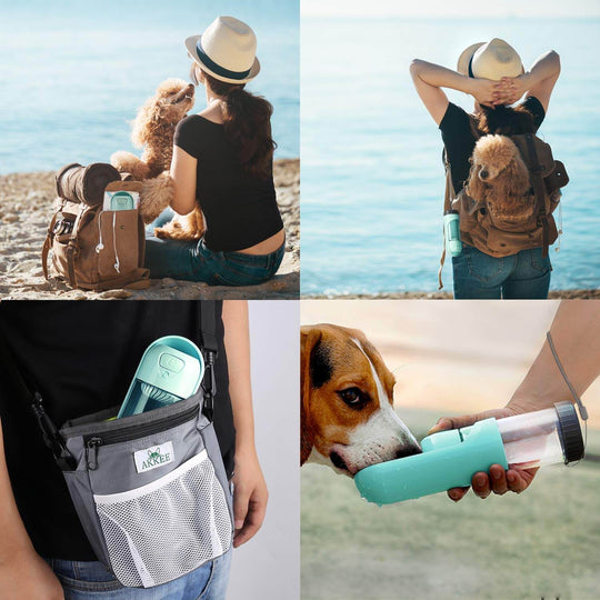 Dog hiking water bottle