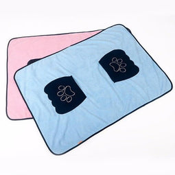 Microfiber absorbent dog towel