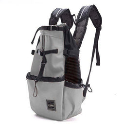 grey dog backpack carrier for small dogs and cats