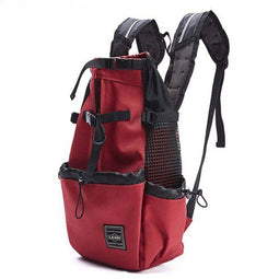 red dog backpack carrier for small dogs and cats
