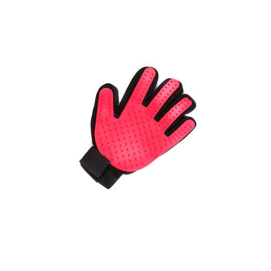 red pet shedding gloves