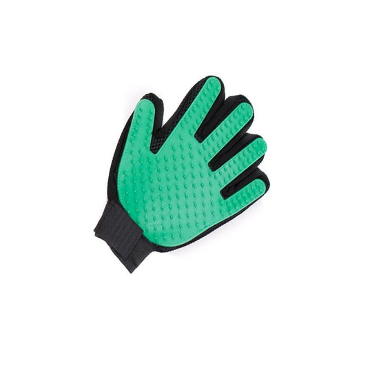 green pet shedding gloves