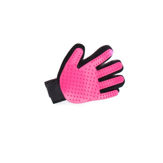pink pet shedding gloves