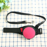 pink hands free leash for training