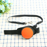 orange hands free leash for training