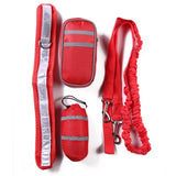 red reflective dog lead for training running hiking